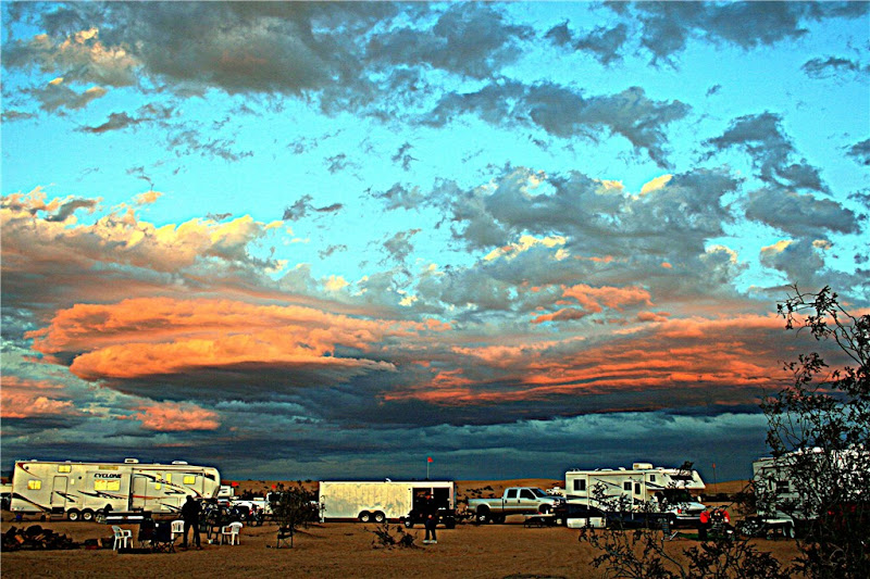 Photo: AccuFan Weather Photo of the Day: Camp at sunset on July 19, 2012 Imperial Sand Dunes, California by Desertron http://ow.ly/cme6T