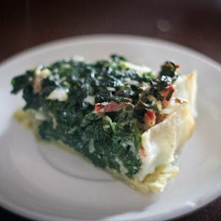 Potato Crusted Spinach Pie