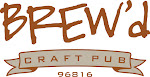 Logo for BREW'd craft pub