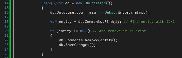 delete entity