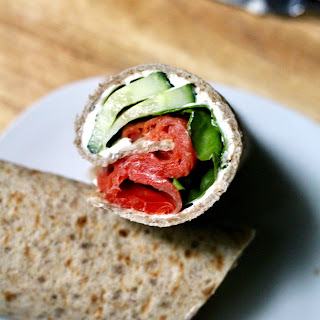 Smoked Salmon Lavash Wraps.
