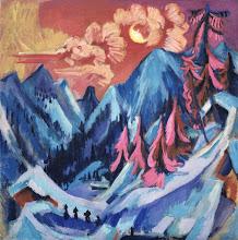 """Photo: Ernst Ludwig Kirchner, """"Paesaggio invernale al chiaro di luna"""" (1919)"""