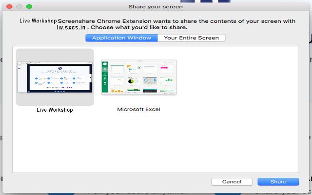 Live Workshop Desktop Streamer