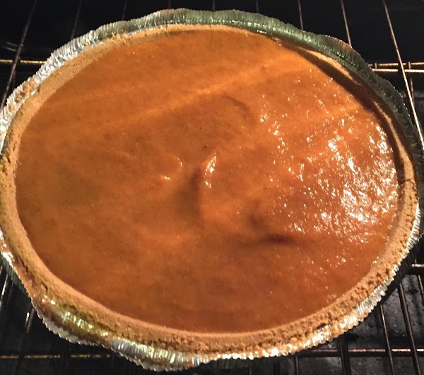 Top cheese layer with pumpkin batter. Smooth out. (Sprinkle streusel ion optional.) Place pie...