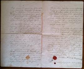 Photo: 13. Fridricho Rericho, N.Rericho tėvo pusbrolio, surašytas testamentas. (Liepojos muziejaus archyvas).