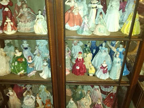Photo: Coalport figurines collected avidly by many, Clare Boam often making sure the rarer more sort after are available.
