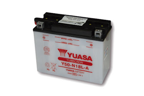 YUASA MC-batteri Y50-N18L-A utan syrapack
