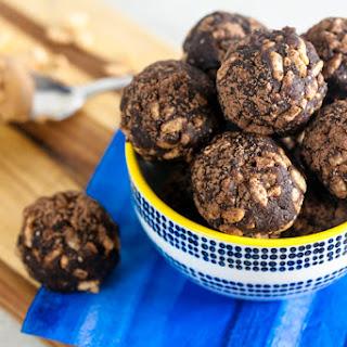 Crispy Chocolate Peanut Butter Energy Balls.