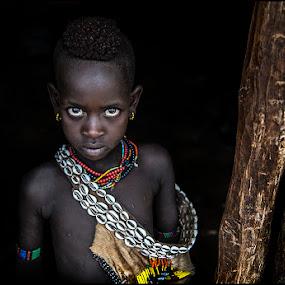 Boy Hamar by Damjan Voglar - Babies & Children Child Portraits ( africa, children, tribe, portrait, travel, child )