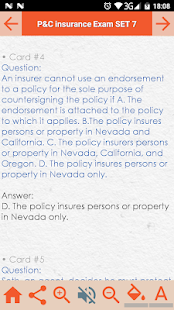 Property & Casualty Insurance Exam Review App Screenshot