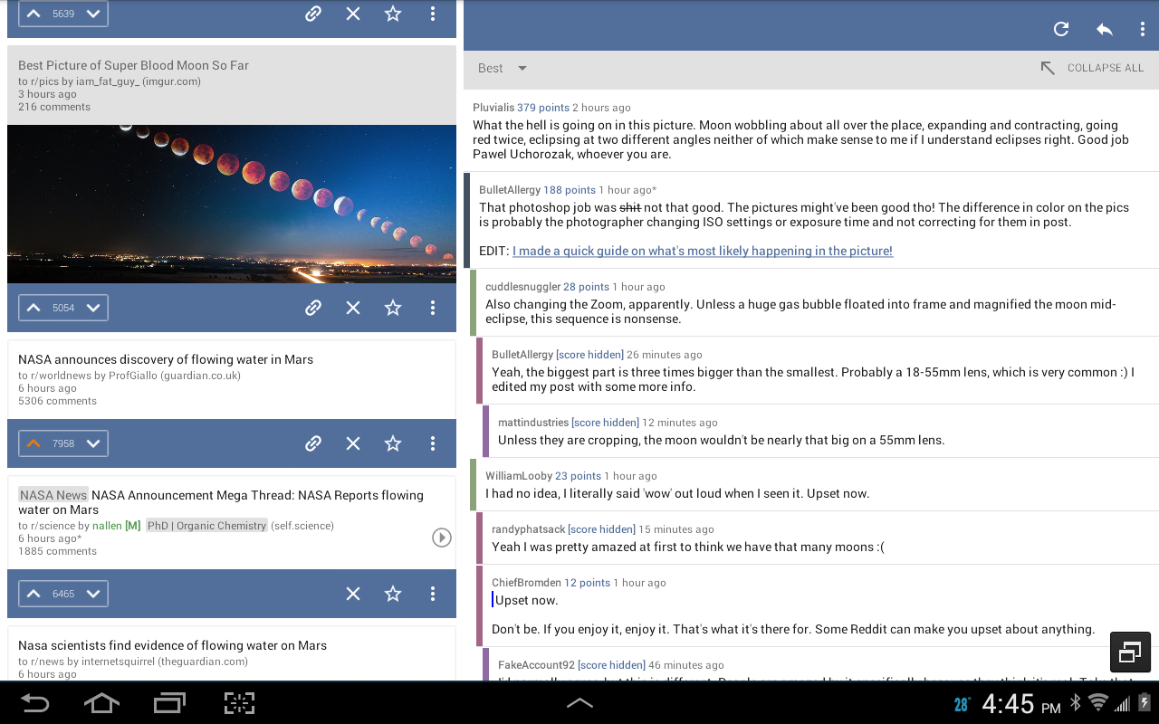 BaconReader for Reddit- screenshot