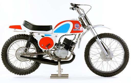La Webco Hodaka 125cc avec un cadre Rickman.