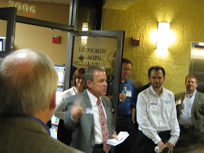 Photo: Paul Partyka speaking at the Mercantile Capital Corporation's Open House www.504Blog.com