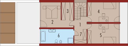 Noe duży - Rzut piętra
