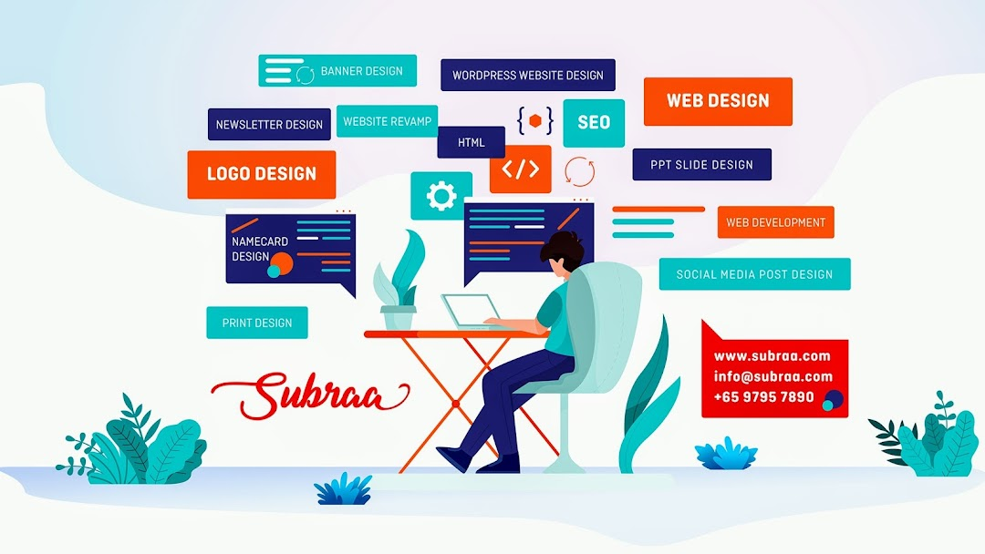 Subraa Freelance Web Designer Logo Designer And Wordpress Developer In Singapore Freelance Website Designer With Proven Strategies In Web Design Logo Design Powerpoint Slide Design Graphic Design Seo In Singapore
