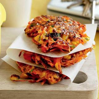 Spiced Carrot, Pepper & Corn Fritters Recipe