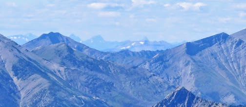 Photo: Zoom shot - I think that is Chief Mtn. in the center of horizon.