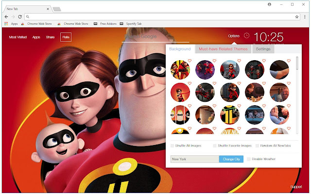 The Incredibles 2 HD Wallpaper New Tab Themes