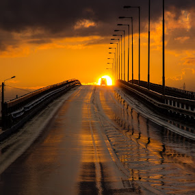 The road to the Sun by Ivanov Marius - Buildings & Architecture Bridges & Suspended Structures ( sky, sunset, road, landscape,  )