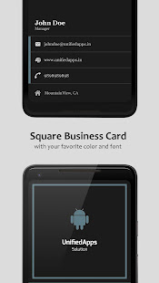 Business card maker apps on google play screenshot image reheart Gallery