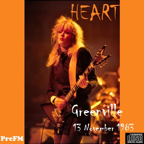 Heart - Memorial Coliseum, Greenville, 13 November 1983 -Pre FM LP