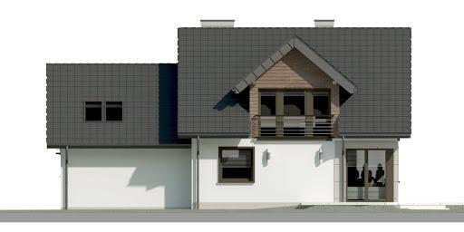 Dom przy Cyprysowej 36 D - Elewacja tylna