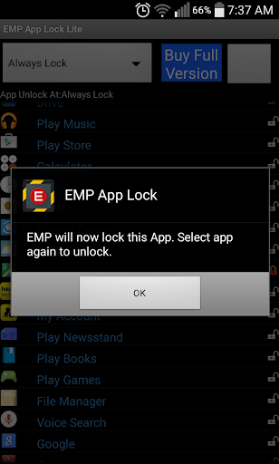 EMP App Locker Lite