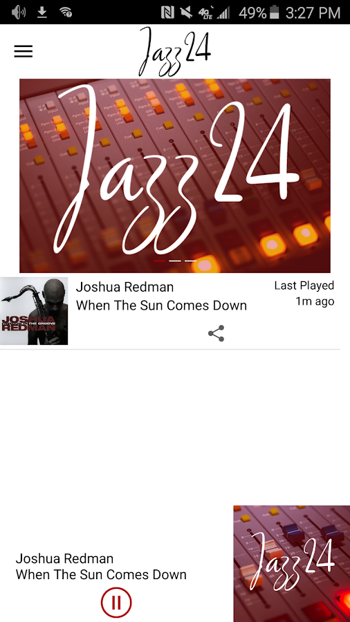 Jazz24: Streaming Jazz 24/7- screenshot