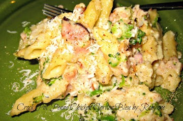 Crock Pot Penne Chicken Cordon Bleu ~robynne Recipe