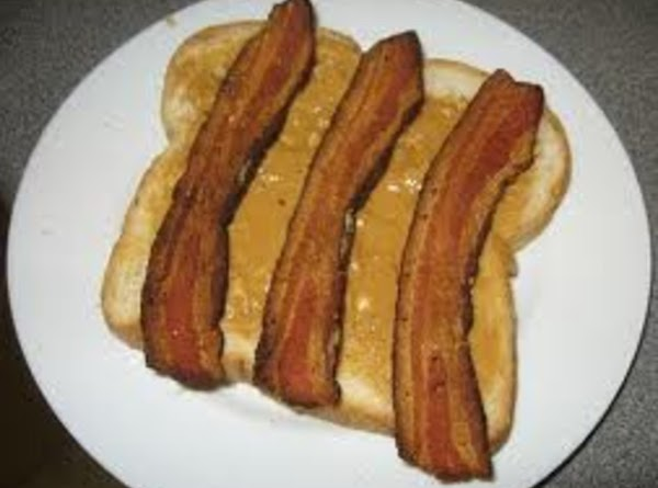 Peanut butter and bacon: top peanut butter with 3-4 slices crisp-cooked bacon, and drizzle...
