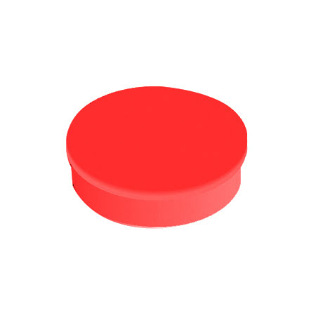 Magnet rund  30mm röd    10/fp