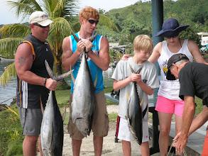 Photo: Chris & Family with Tuna Catch