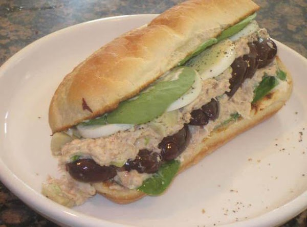 To make the tuna salad, combine the rest of the mayo, celery salt and...