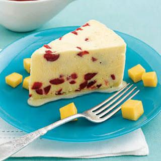 Mango-Cherry Semifreddo with Tart Red Cherry Sauce