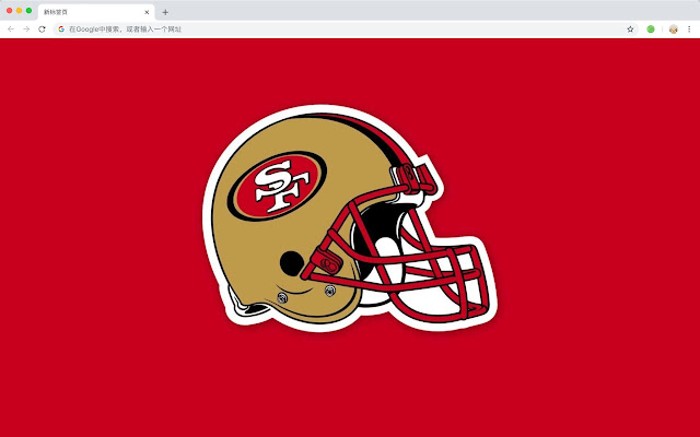 San Francisco 49ers HD Rugby New Tabs Theme