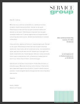 Service Group - Letterhead item