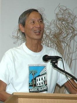 Photo: Speaking to Asian Pacific Islander Network, CSU Long Beach, 2005