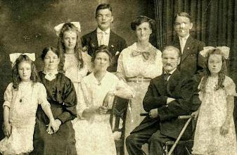 Photo: Johans (Hans) Olsen family ~1900 my great grandfather
