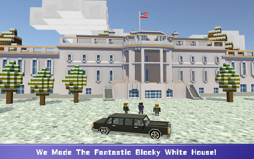 Blocky Security: USA President  screenshots 1
