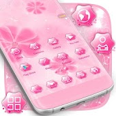 Pink girl Launcher Theme