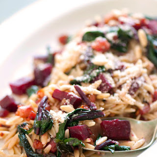 Whole-Wheat Orzo with Beets, Pancetta & Caramelized Onions Recipe