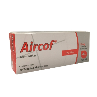 Montelukast Aircof 5 Mg X 30 Tabletas Masticables Cofasa