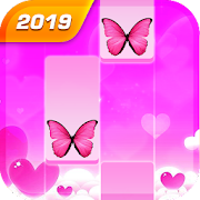 Butterfly Pink Piano Tiles - Magic Girl Kpop Music