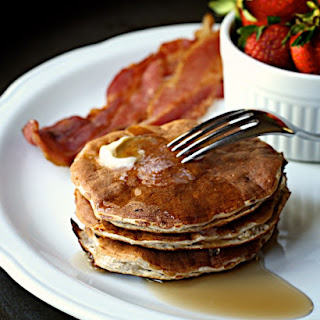 Apple Spiced Protein Pancakes.