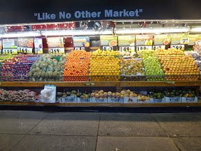 Photo: Fruit stand by the Beacon Theatre