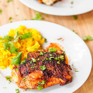 Crispy Paprika Honey Chicken Thighs {Gluten-Free, Dairy-Free}