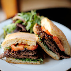 Blackened Rib Eye Steak Sandwich