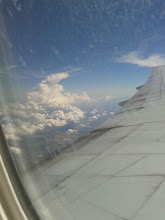 Photo: The pilot informed us we were passing Mt Fiji, but I might have missed it while waiting for the English translation