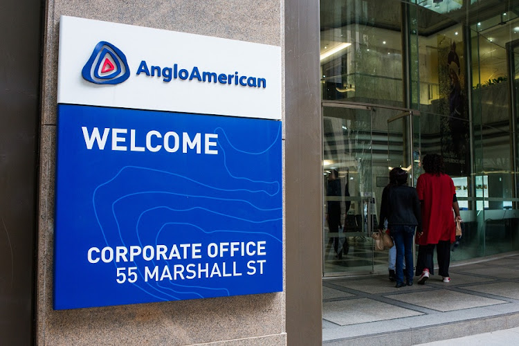 Anglo American's corporate offices in Johannesburg. Picture: SUNDAY TIMES