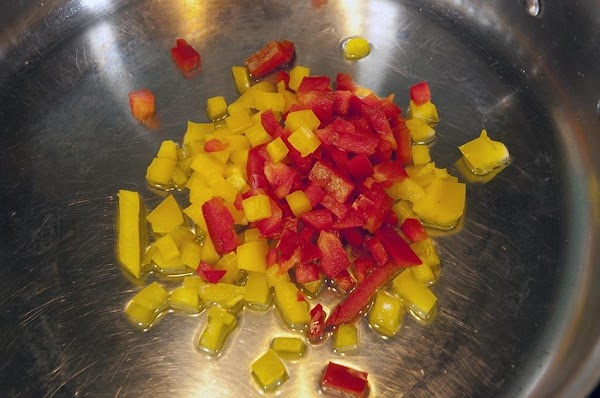 Add the bell peppers.